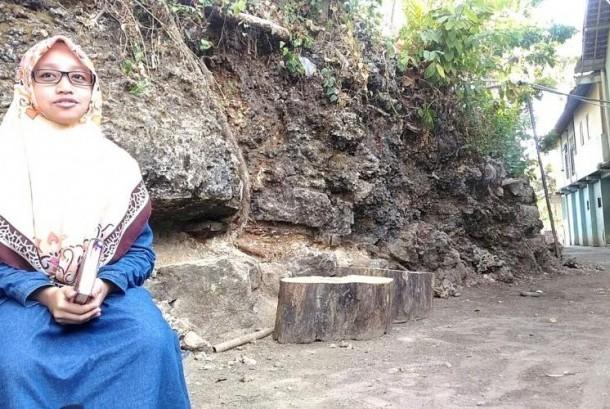 Nisrina, penghafal Alquran di pelosok Yogyakarta.