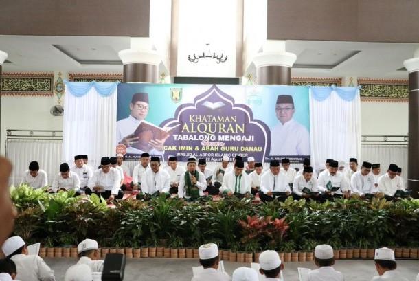 Nusantara Mengaji di Masjid Al-Abrar Islamic Canter Kabupaten Tabalong, Kalimantan Selatan, Selasa (22/8)