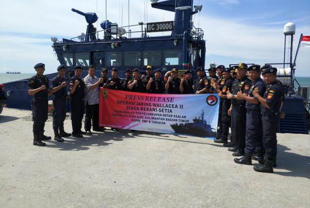 Operasi Jaring Wallacea 2 yang dikendalikan oleh Kantor Pusat Direktorat Jenderal Bea Cukai (DJBC).