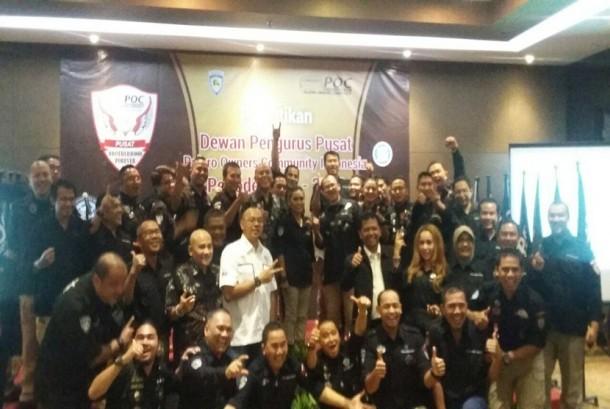 Pajero Owners Club (POC) melakukan pelantikan dan pengukuhan kepengurusan di Hotel Santika TMII Jakarta (25/02).
