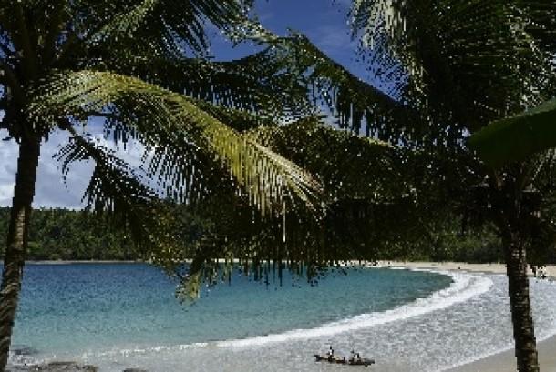 Pantai Gurango, Morotai Utara, Pulau Morotai, Maluku Utara, Rabu.