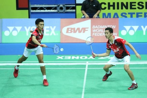 Pasangan ganda putra muda Indonesia, Fajar Alfian/M Rian Ardianto