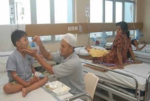 Pasien di sebuah rumah sakit