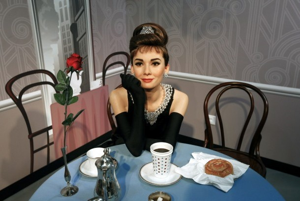 Patung lilin Audrey Hepburn.