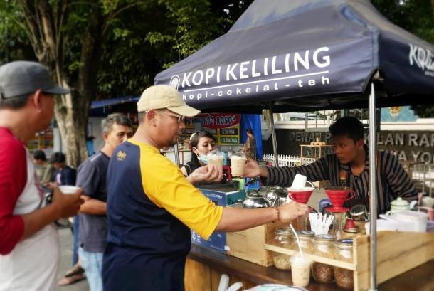 Pedagang Koling di kawasan Malioboro, Yogyakarta