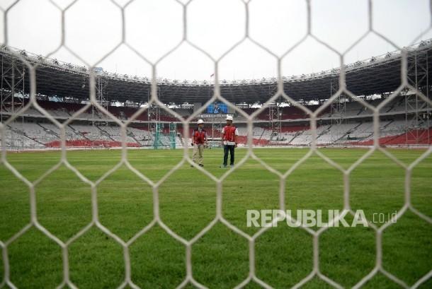Gelora Bung Karno Main Stadium, Jakarta, was under renovation on Tuesday (October 3).