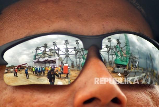 Pengerjaan proyek PLTU Jawa Tengah berkapasitas 2 X 1.000 MW, Selasa (12/12)