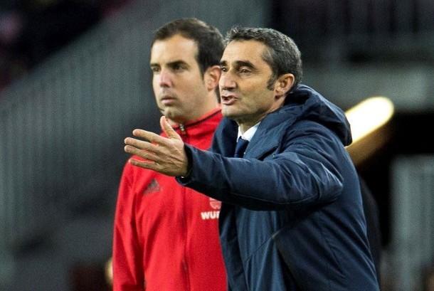 Pelatih Barcelona Ernesto Valverde