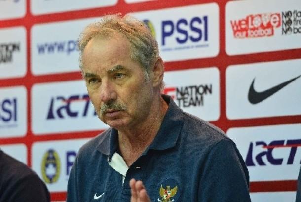 Pelatih timnas Indonesia Alfred Riedl.