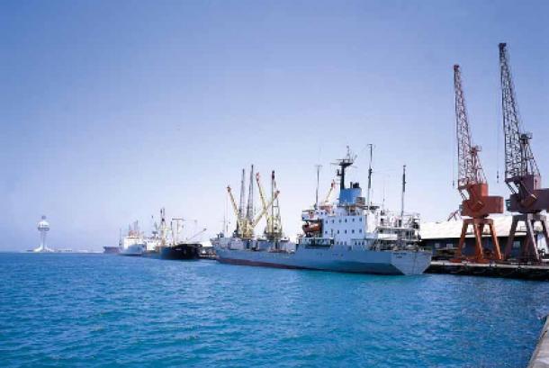Pemandangan Pelabuhan Jeddah