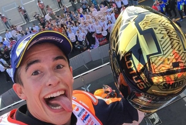 Pembalap Honda Marc Marquez