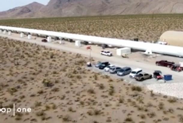 Pembangunan tabung Hyperloop, jalur kereta super cepat di AS