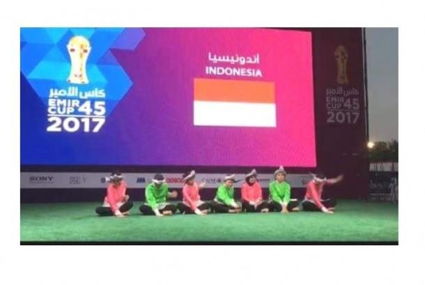 Penampilan budaya Indonesia di ajang peresmian Stadion Piala Dunia 2022 Qatar