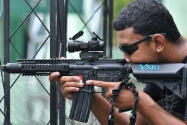 Pengguna Airsoft Gun. Ilustrasi.