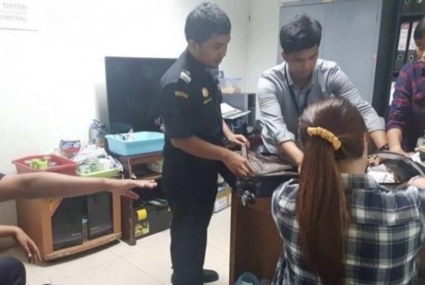 Penumpang perempuan tertangkap membawa sabu di Bandara Supadio