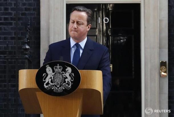 Perdana Menteri Inggris David Cameron mengumumkan pengunduran dirinya setelah publik Inggris memilih keluar dari Uni Eropa, Jumat, 24 Juni 2016.