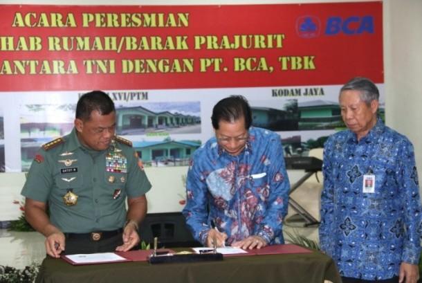Peresmian Bantuan Rehabilitasi Sarana dan Prasarana TNI.