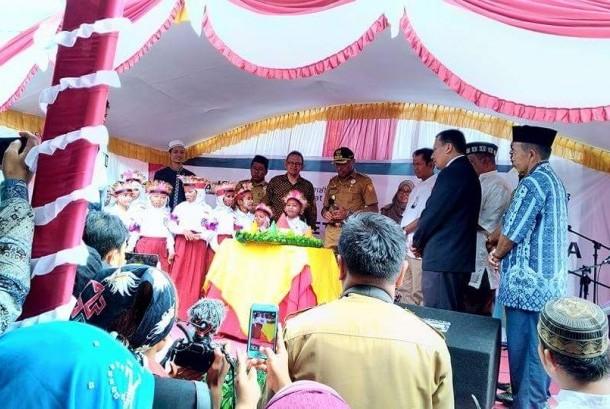 Peresmian SD Juara Al-Hikmah Jayapura binaan Rumah Zakat dan LAZIS PLN, Senin (21/8).