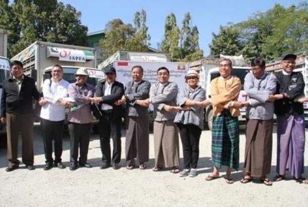 Peresmian sekolah di Sitwee, Myanmar dari hasil donasi melalui PKPU.