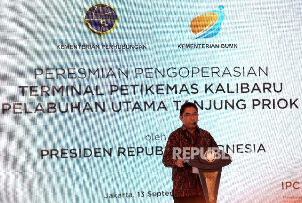 Chief Executive of state-owned port operator PT Pelabuhan Indonesia (Pelindo) II, Elvyn G. Masassya