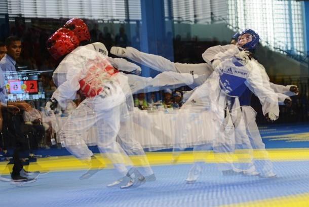Pertandingan Taekwondo. (Ilustrasi)