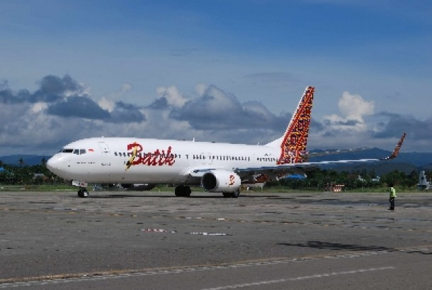 Pesawat maskapai Batik Air di Bandara Sentani, Kamis (6/6).