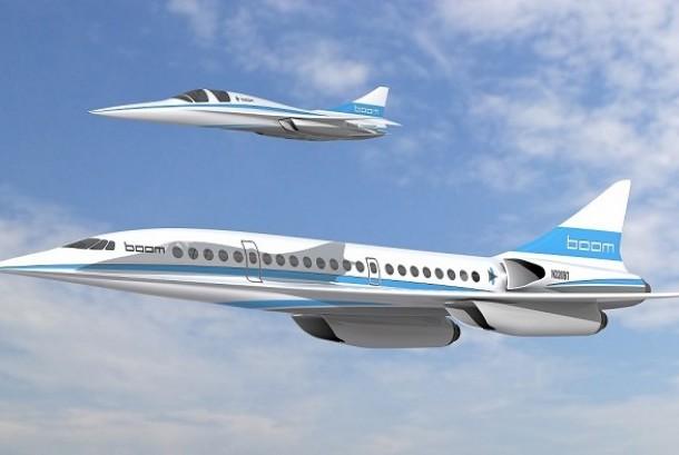 Pesawat supersonik (ilutrasi)
