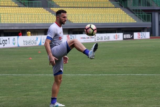 Pesepak bola Bhayangkara FC Ilija Spasojevic
