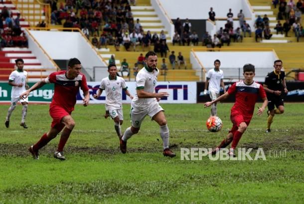 Timnas Indonesia pada turnamen internasional Aceh World Solidarity 2017 di Banda Aceh, Aceh.