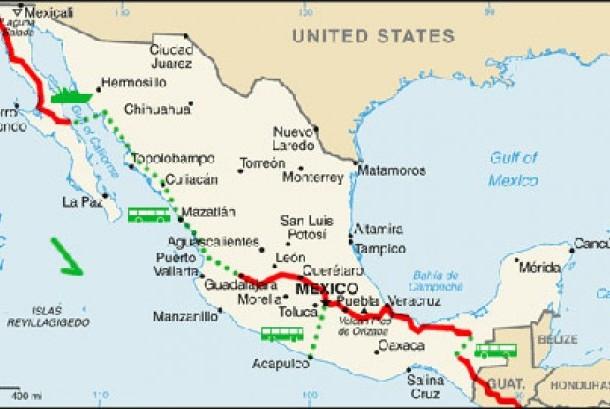 Peta Meksiko (ilustrasi)