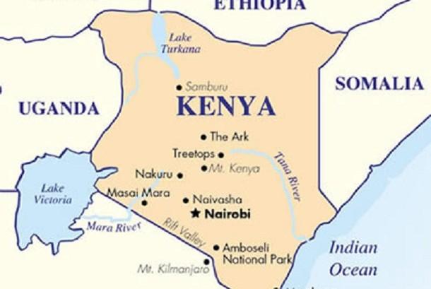 Peta Negara Kenya