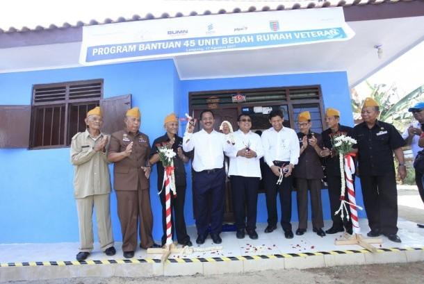 PGN merenovasi rumah 45 veteran di Lampung.