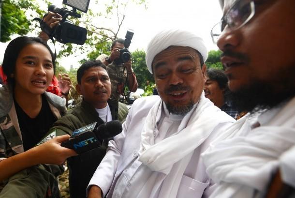 Pimpinan Front Pembela Islam (FPI) Rizieq Shihab.