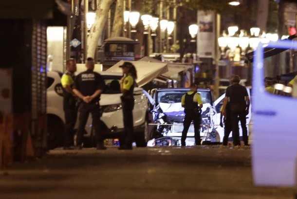 Police secured Las Ramblas area, Barcelona, after a high-speed white van ramming into crowd on Thursday (August 17) afternoon local time.