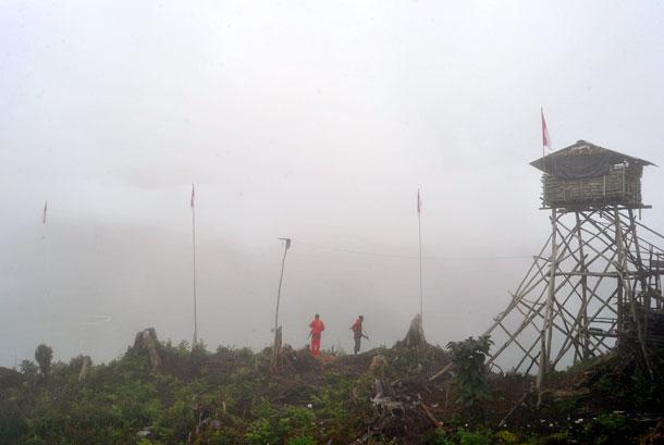 Pos Merah Putih di Distrik Mulia, Puncak Jaya, Papua.