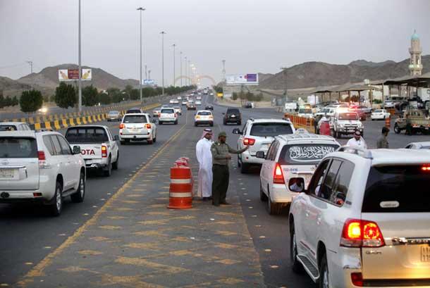 Pos pemeriksaan imigrasi Al-Shimaisi di perbatasan kota Jeddah dan Makkah.