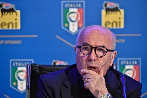 Mantan Presiden FIGC Carlo Tavecchio.