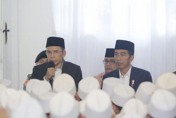 Presiden Jokowi di NTB, Kamis (23/11).
