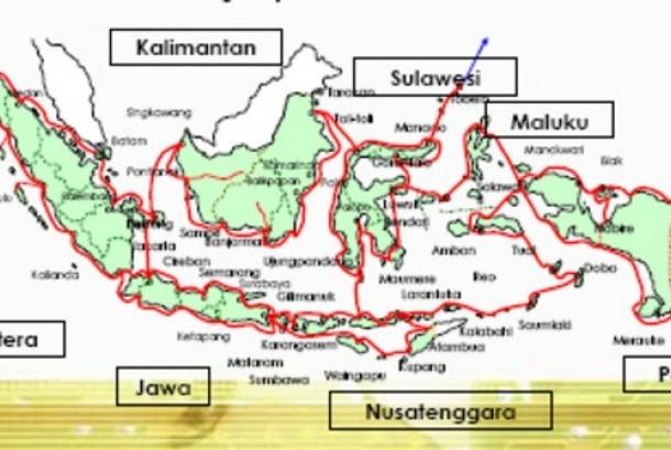 Proyek Palapa Ring pemerintah Indonesia.