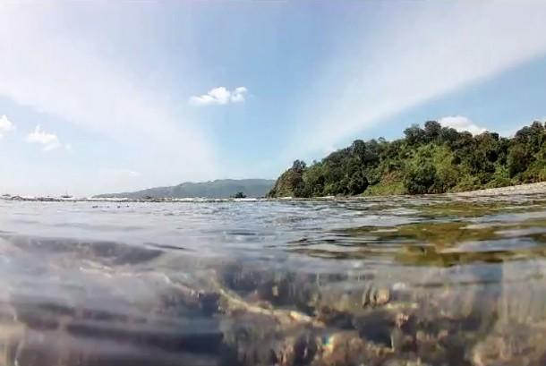 Pulau Kunti, kawasan Geopark Ciletuh, Sukabumi, Jawa Barat