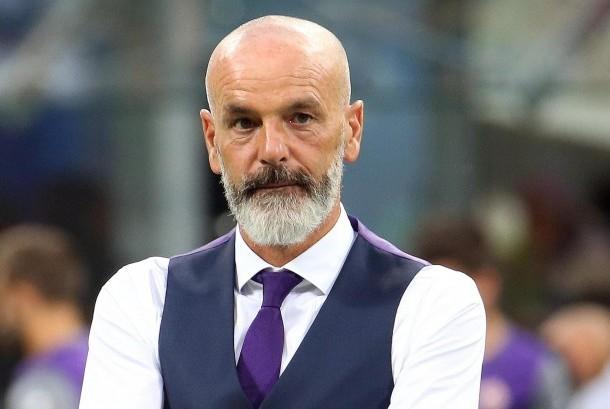 Reaksi pelatih Fiorentina, Stefano Pioli pada laga Serie A lawan Inter Milan, di Giuseppe Meazza, Senin (21/8) dini hari WIB.