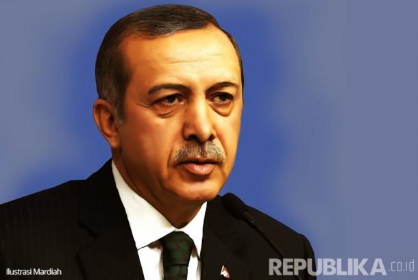Recep Tayyip Erdogan (Ilustrasi)