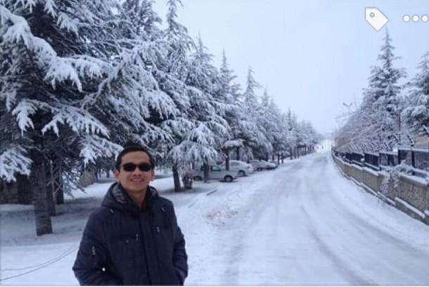 Ridwan, saat menikmati libur di Turki.