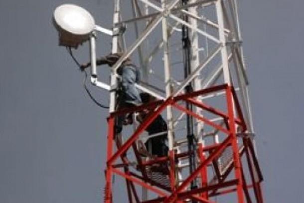 Salah satu menara BTS milik operator telekomunikasi