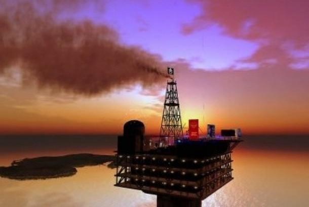 Salah satu pengeboran minyak milik Saudi Aramco.