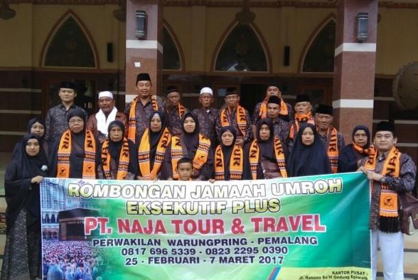 Salah satu rombongan jamaah umrah Naja Tour.