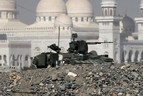 Salah satu sudut kota di Yaman yang hancur akibat perang.