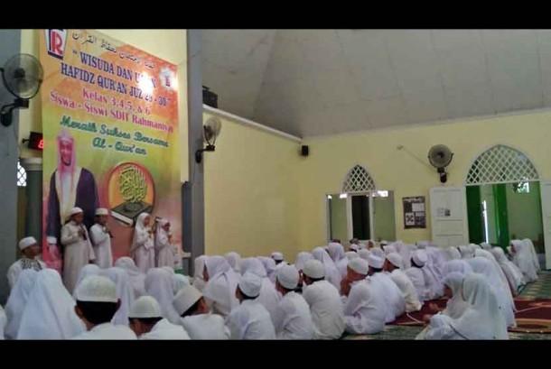 Sebanyak 96 siswa ikuti wisuda Alquran SDIT Rahmaniyah Depok, Jawa Barat.