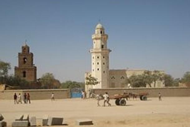 Sebuah bangunan masjid di Abeche, Republik Chad.