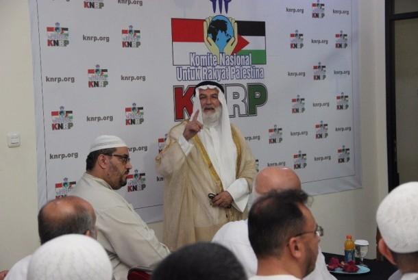 Sejumlah Syaikh Palestina menyampaikan tausyiah dalam program Safari Ramadhan KNRP atau Istiqbal Dhuyuf di Kantor Pusat KNRP, Ragunan, Jakarta, pekan lalu.